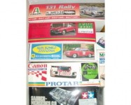 Scatole di montaggio rare di modellini auto 36 pezzi
