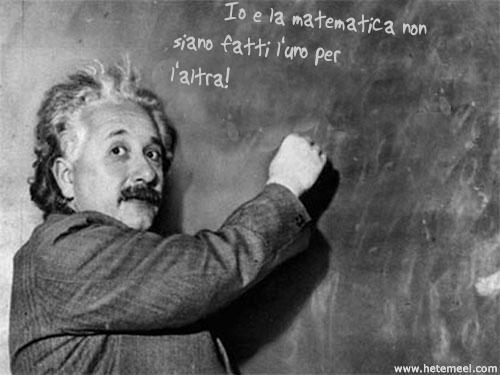Io e la matematica einstein